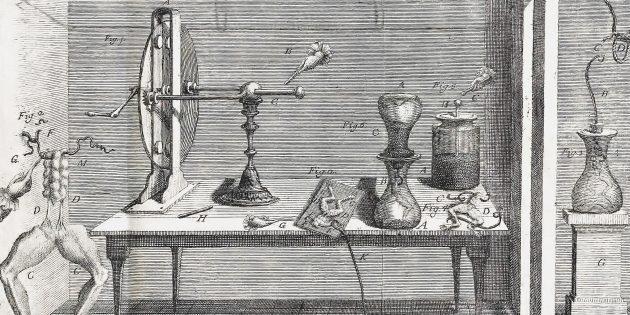 Средневековая медицина: лаборатория Гальвани.