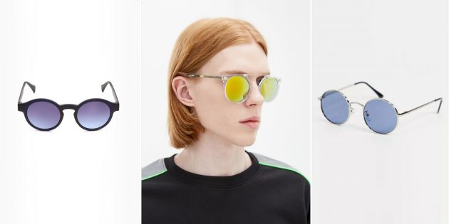 Мужские солнцезащитные очки с круглыми линзами