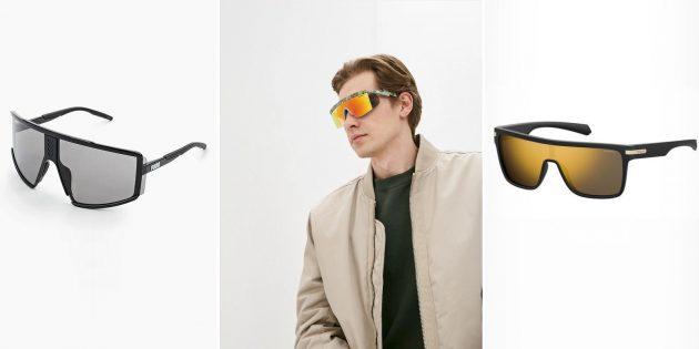 Модные мужские солнцезащитные очки-маска