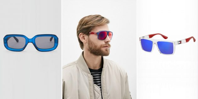 Модные мужские солнцезащитные очки с прозрачной оправой