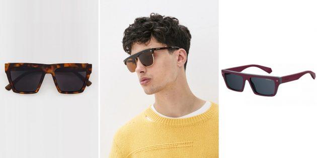 Мужские солнцезащитные очки с D-образными линзами