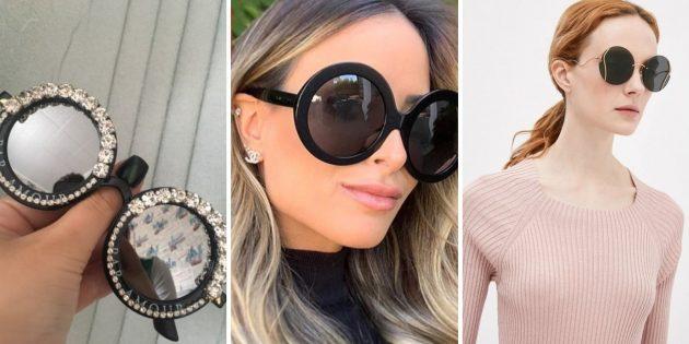 Модные женские солнцезащитные очки — 2021: очки-«стрекозы» в стиле ретро