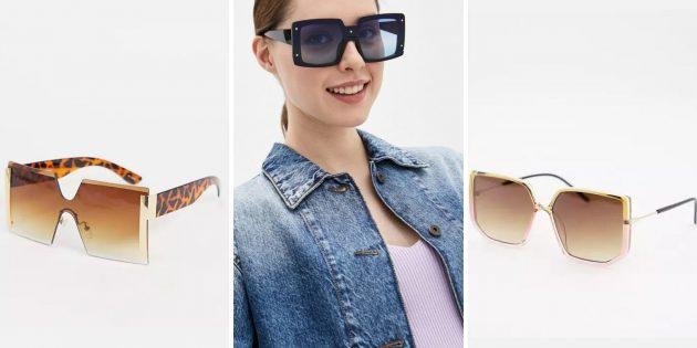 Модные женские солнцезащитные очки — 2021: квадратные очки размера XXL