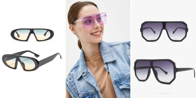 Модные женские солнцезащитные очки — 2021: очки-маска