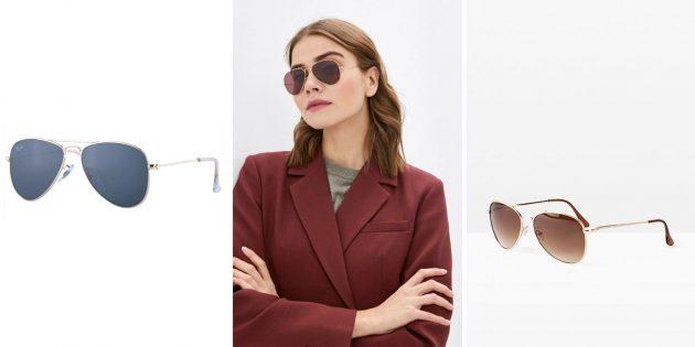 Модные женские солнцезащитные очки — 2021: авиаторы