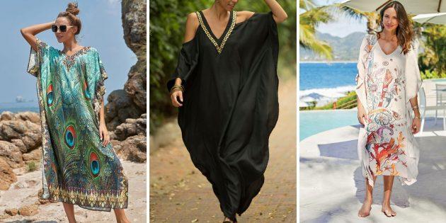 Длинное пляжное платье