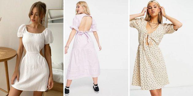 Модные платья лета 2021года: модели с необычными вырезами