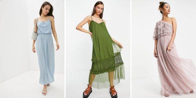 Модные платья лета-2021: свободное макси
