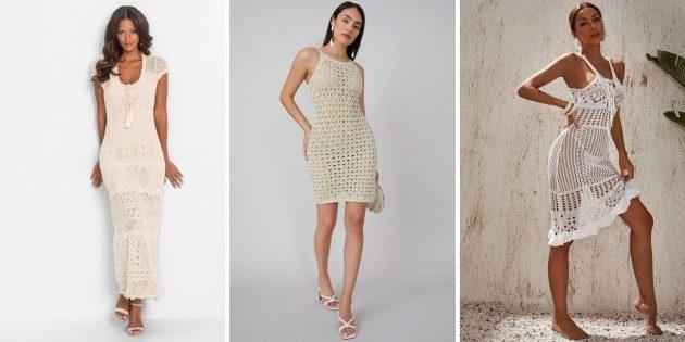 Модное платье-сетка для лета 2021года