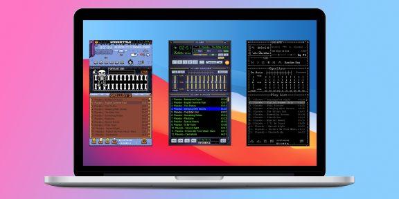 Аудиоплеер re:AMP для macOS поддерживает классические скины Winamp