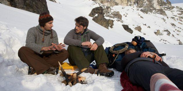 Кадр из фильма про альпинистов «Тайна перевала Дятлова»