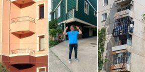 Бассейн, пентаграмма и черепа: 15 очень странных балконов