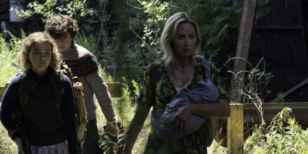 Кадр из фильма «Тихое место — 2»