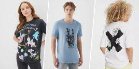 16 недорогих футболок с интересными принтами