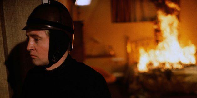 Кадр из фильма про пожарных «451° по Фаренгейту»