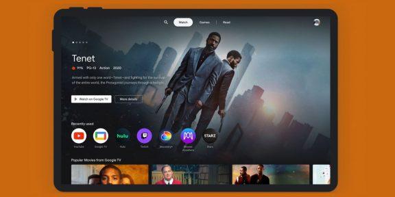 Google представила Entertainment Space — приложение для Android-плашнетов, объединяющее видео, книги и игры