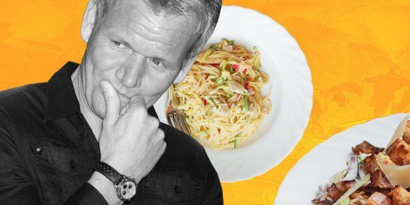 Эксперимент: как я неделю готовила ужины по книге Гордона Рамзи