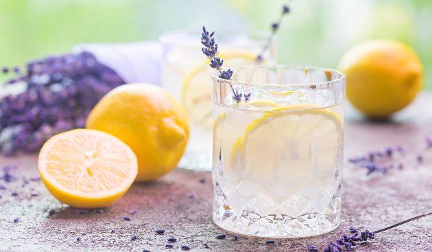 Лавандовый лимонад с мёдом