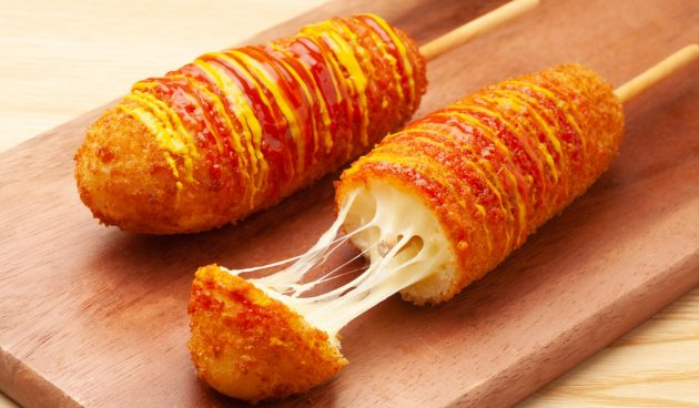 Корейские корн-доги с сыром