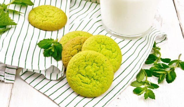 Яркое мятное печенье