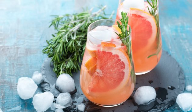 Безалкогольный коктейль с грейпфрутом