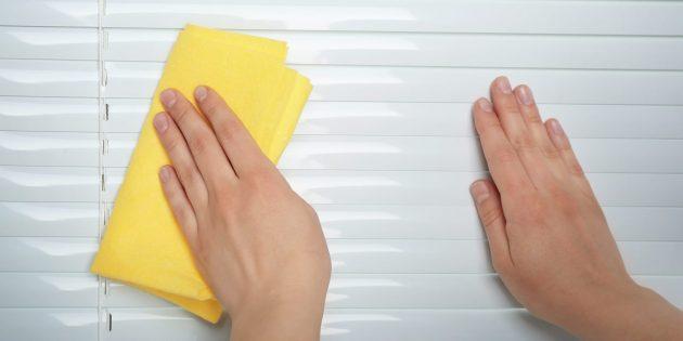 Как помыть горизонтальные жалюзи из металла или пластика