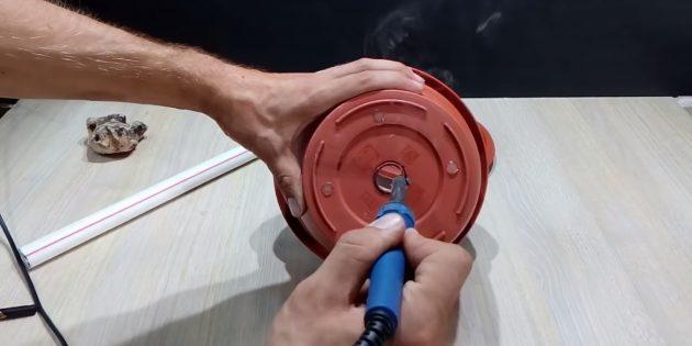 Как собрать фонтан своими руками: сделайте отверстие