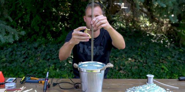 Как сделать фонтан своими руками: установите акриловую трубку на помпу