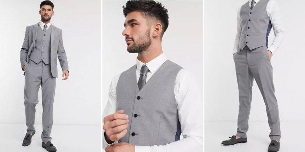 Одежда для торжественных случаев: мужской костюм серого цвета