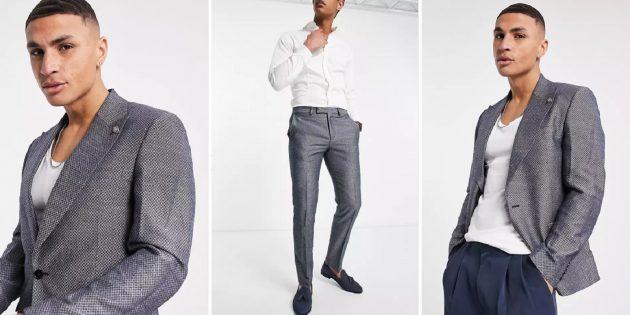 Одежда для торжественных случаев: мужской костюм с геометрическим рисунком