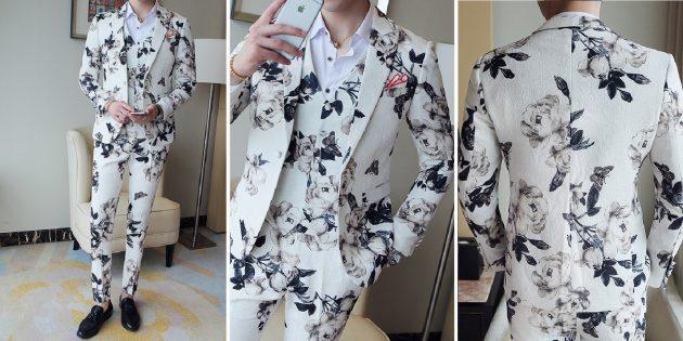 Мужской костюм с растительными узорами