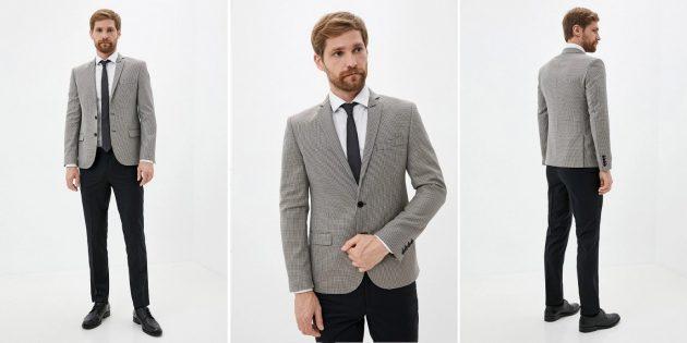 Мужской костюм с контрастными верхом и низом