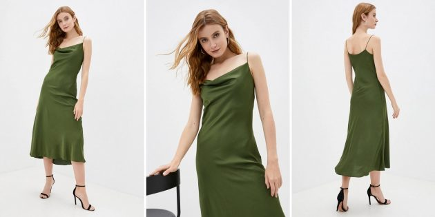 Одежда для торжественных случаев: платье на тонких бретелях