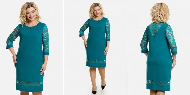 Одежда для торжественных случаев: платье с кружевными вставками