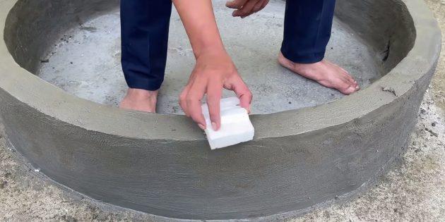 Как сделать фонтан своими руками: обмажьте бортики
