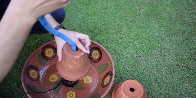 Как сделать фонтан своими руками: установите помпу и большой вазон