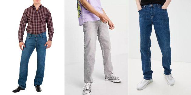Модные мужские джинсы: удлинённые