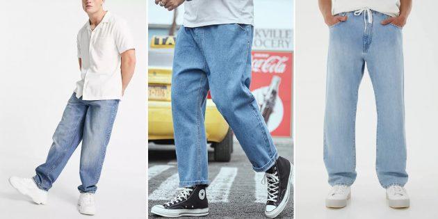 Модные мужские джинсы 2021: мешковатые