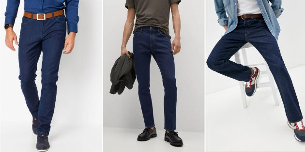 Мужские джинсы цвета индиго