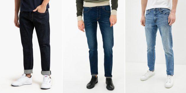 Модные мужские джинсы 2021: зауженные