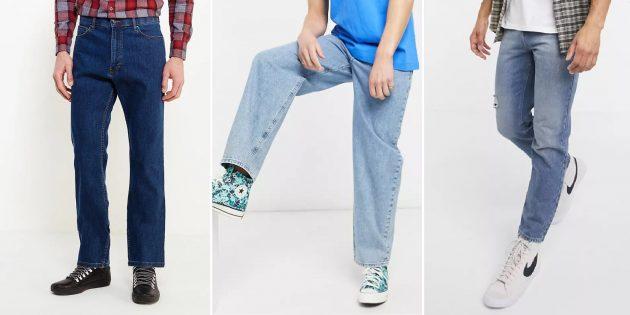 Мужские джинсы с высокой посадкой