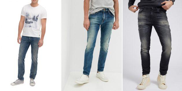 Модные мужские джинсы 2021: застиранные