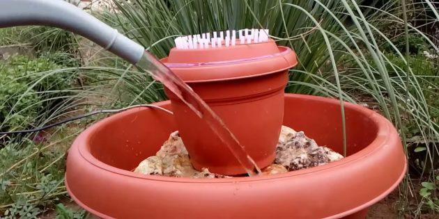 Как сделать фонтан своими руками: установите конструкцию в большой вазон