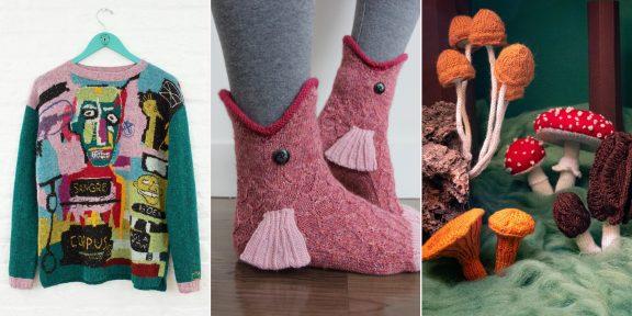 Собачий свитер и плед для «Монополии»: 18 крутых и забавных вязаных вещей