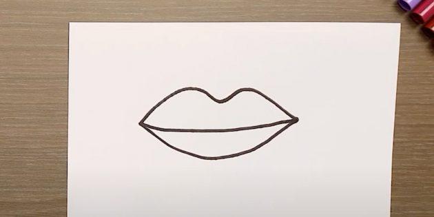 Нарисуйте нижнюю губу