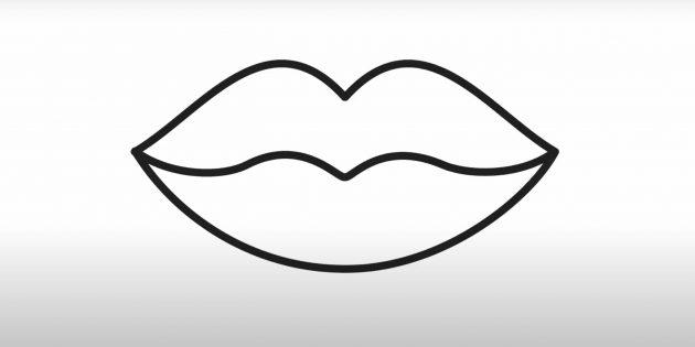 Изобразите нижнюю губу