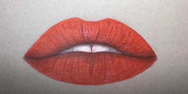 Как нарисовать губы: добавьте тени