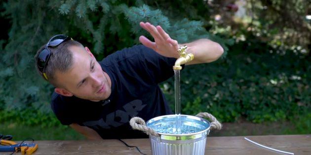 Левитирующий фонтан-кран своими руками