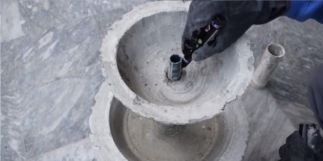 Как сделать фонтан своими руками: установите маленькую чашу