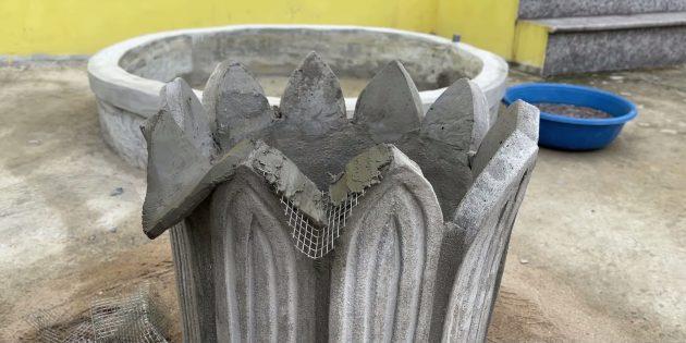 Как сделать фонтан своими руками: добавьте треугольники из сетки
